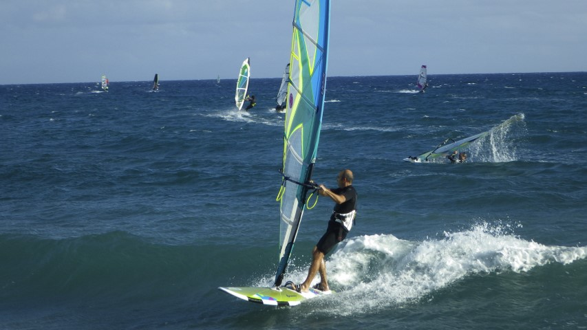 Andora, Liguria, windsurfing with South West wind