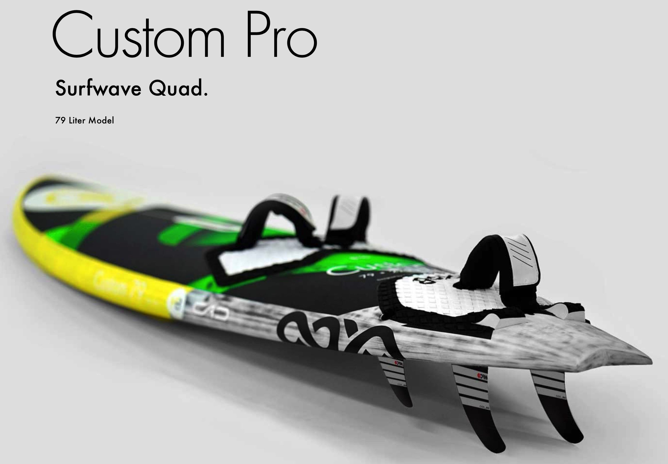 Goya Custom Quad Pro Wave Windsurf Board 2019
